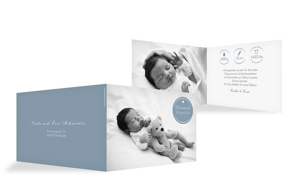 Prächtig dankeskarten geburt danksagungskarten geburt dankeskarten baby @OF_18